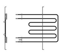 Нагрівальний елемент духовки подвійний верхній 2250  556W Indesit Ariston C00081591