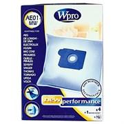 Набір мішків AE01-MW Wpro (4 шт) та фільтра мотора до пилососа Electrolux 481281718608