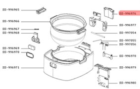 Контейнер для конденсату мультиварки Moulinex SS-996976