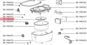 Нагрівальний елемент (ТЕН) мультиварки Moulinex SS-996265