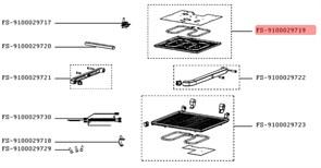 Панель для смаження в зборі з теном для електрогриля Tefal (верхня) FS-9100029719