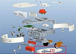 Нижня частина корпусу для робота пилососа Xiaomi Mi Robot Vacuum C015300000600