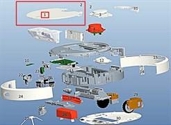 Кришка верхня для робота пилососа Xiaomi Mi Robot Vacuum C015300000700