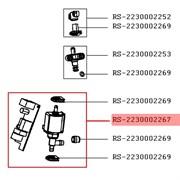 Помпа з платою управління RS-2230002267 для пилососа пароочисника Rowenta