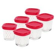 Набір баночок для йогуртниці Tefal (6 шт) XF100501, XF100032
